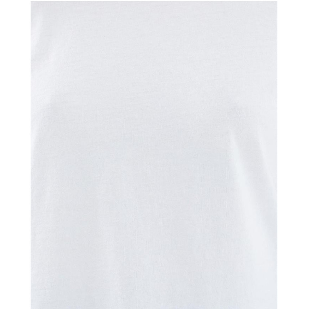 Women's Tops | Saddle Hem Tee in White | CASA AMUK