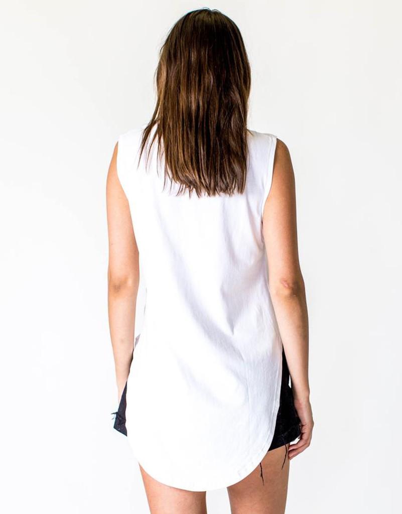 Women's Tops | Teardrop Tank in White | CASA AMUK