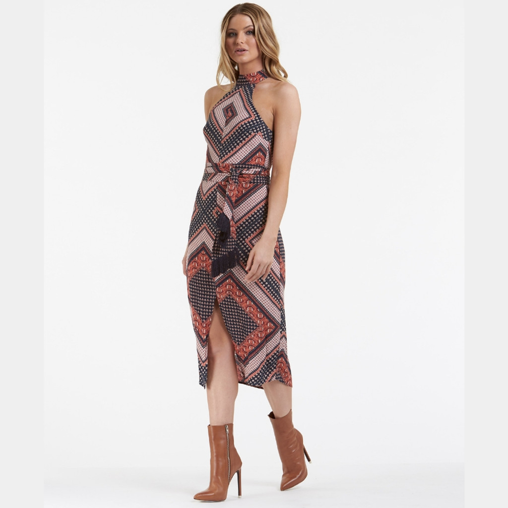 Women's Dresses |  Boho Chic Midi Dress | AMELIUS