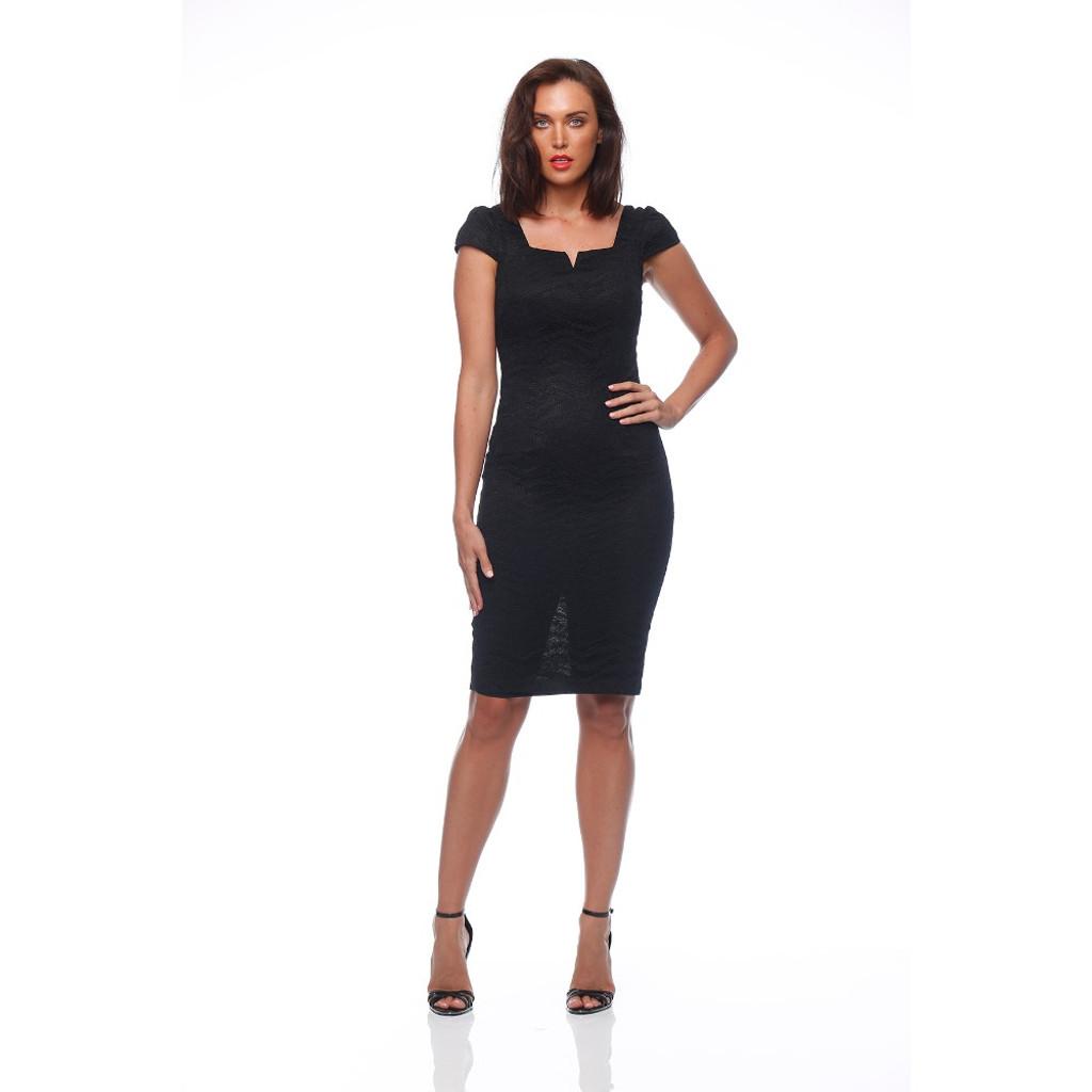 Women's Dress Australia |  Cuba Dress in Black | PINK RUBY
