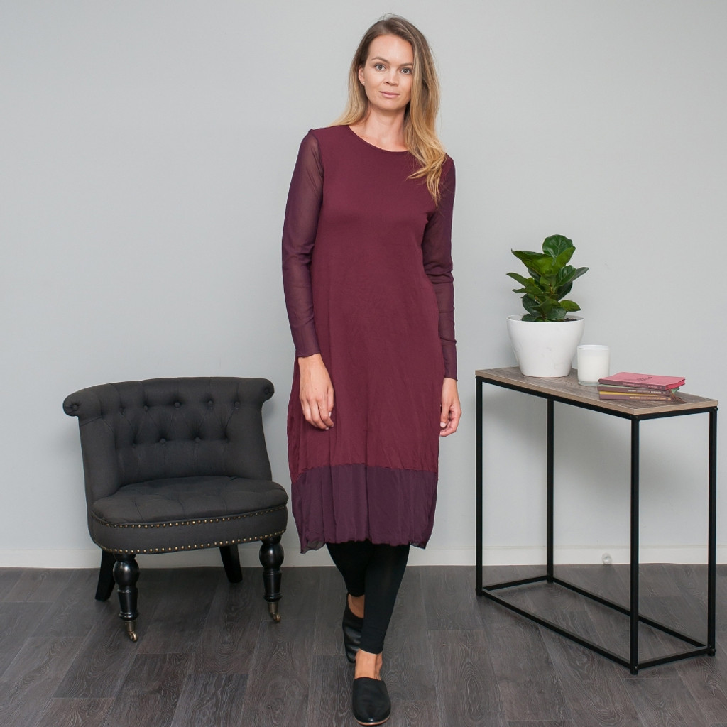 5143c4c21497 Frankie Dress in Wine by VIGORELLA