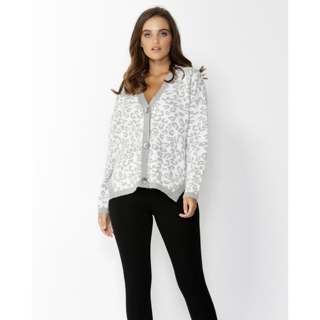 Ladies Jackets | Snow Leopard Cardi | SASS
