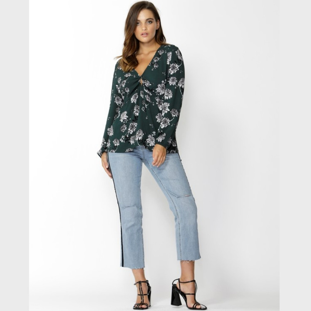 Magnolia Fields Keyhole Blouse by SASS*