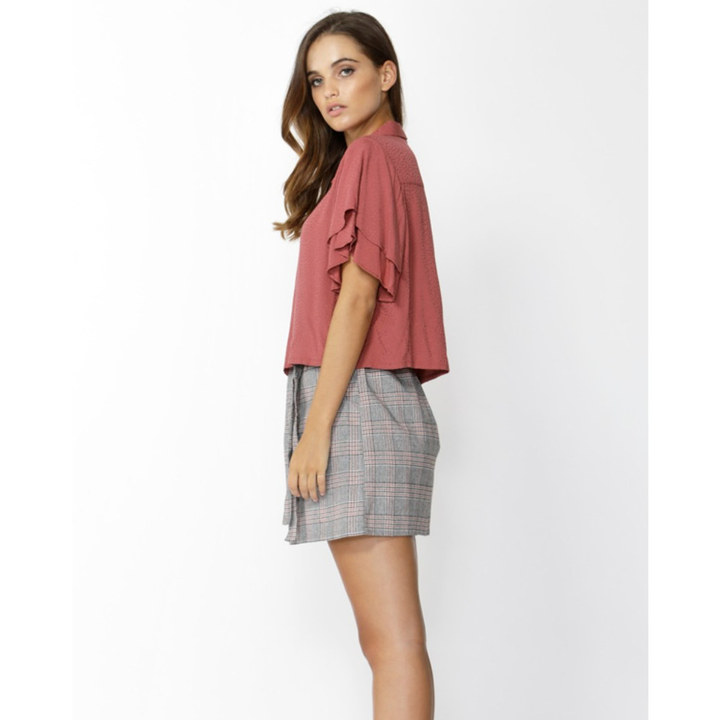 Ladies Tops | Sensation Ruffle Sleeve Shirt | SASS