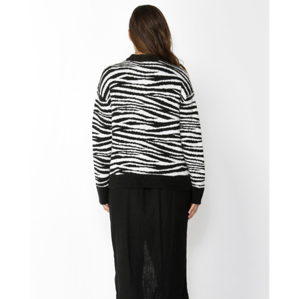 Women's Tops | Zebra Crossing Jumper | SASS