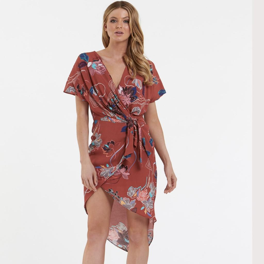 Women's Dresses Australia |  Desert Merlot Midi Dress | AMELIUS