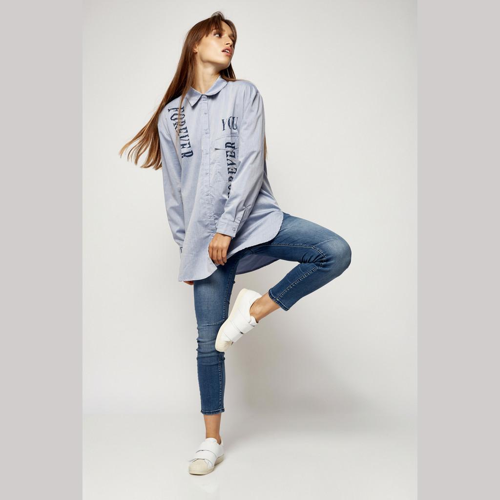Women's Pants | Bay Jeans in Medium Blue Denim | BIANCO