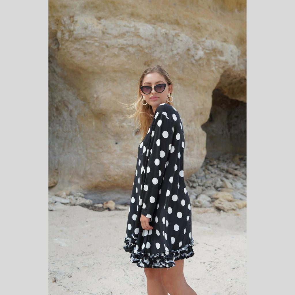 Women's Dress | KL467 Dress in Black | KIIK LUXE