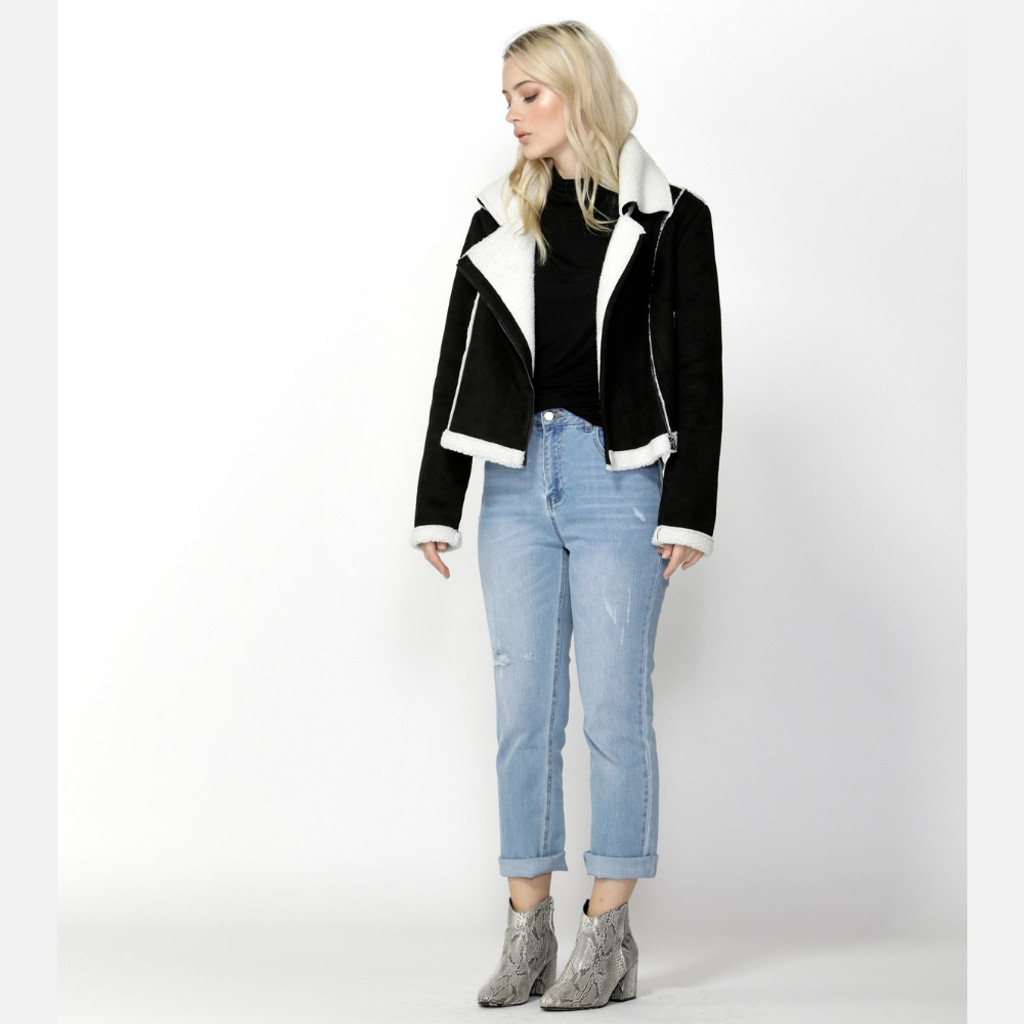 Jackets for Women | Navigator Suede Biker Jacket | SASS