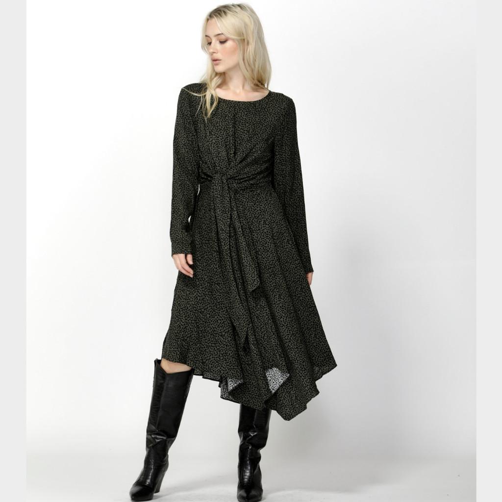 Ladies Dresses | Jungle Dreams Knot Midi Dress | SASS