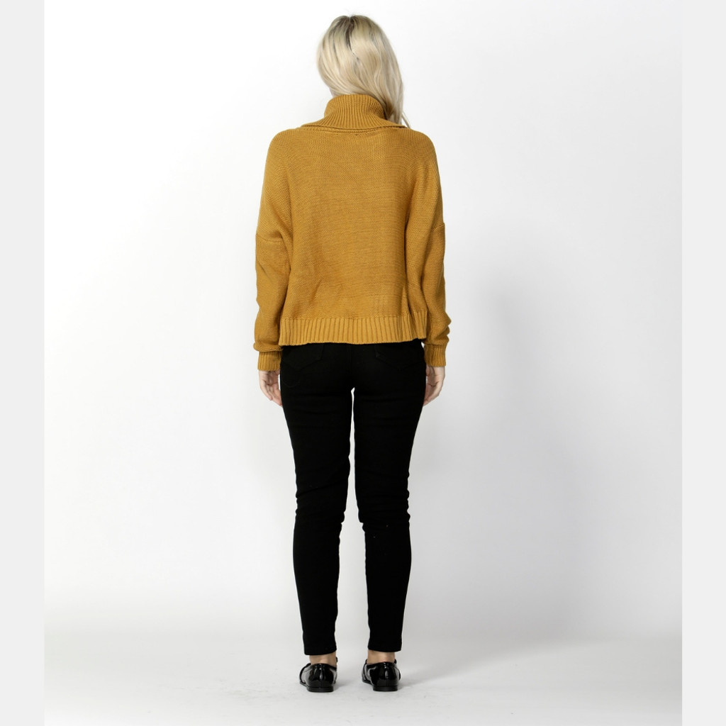 Women's Tops | Heated Moments Cable Jumper in Pawpaw | SASS