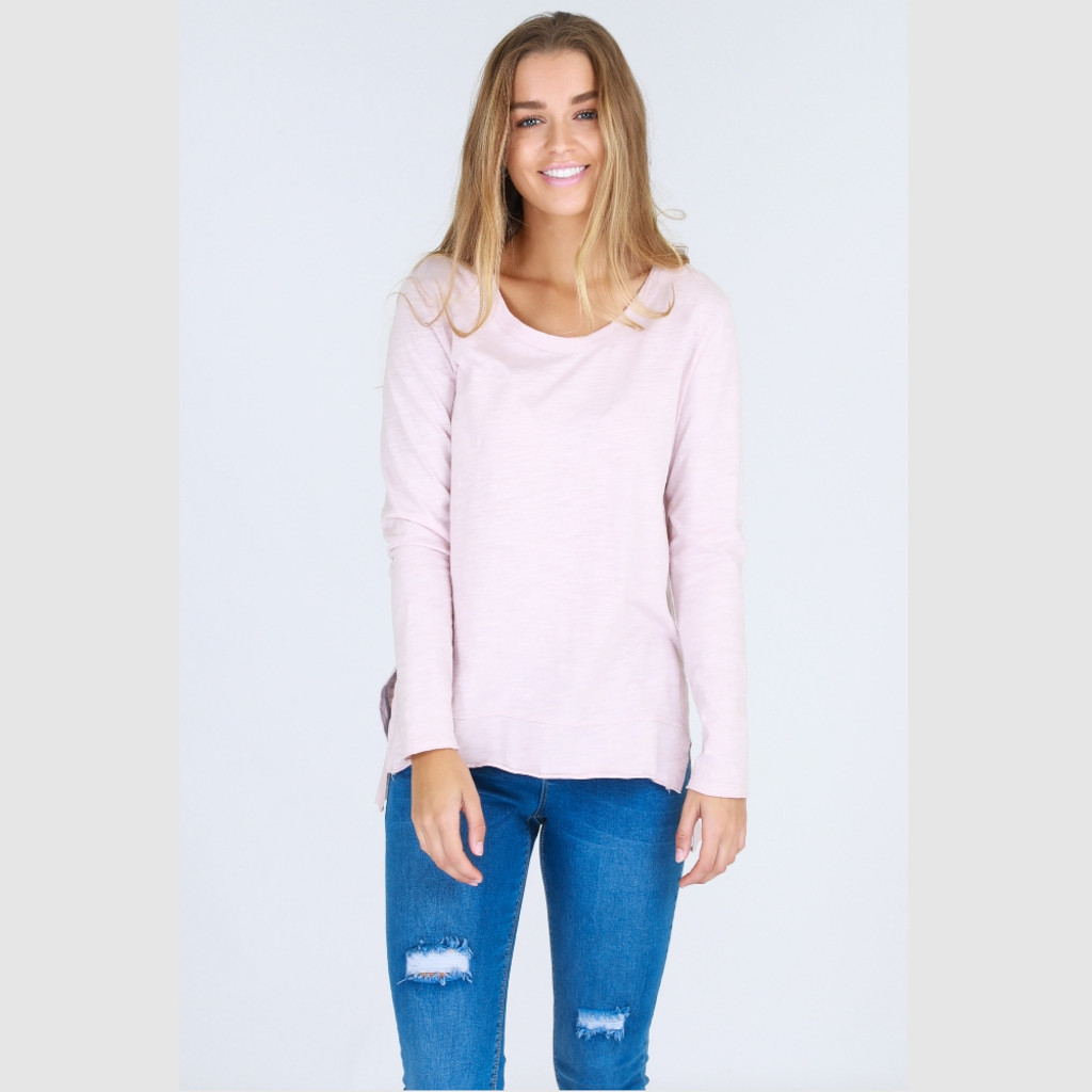 Women's Tops | Strumpet Tee in Blush Marle | 3RD STORY