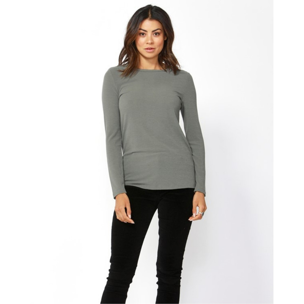 Women's Tops | Holly Rib Long Sleeve Tee | BETTY BASICS