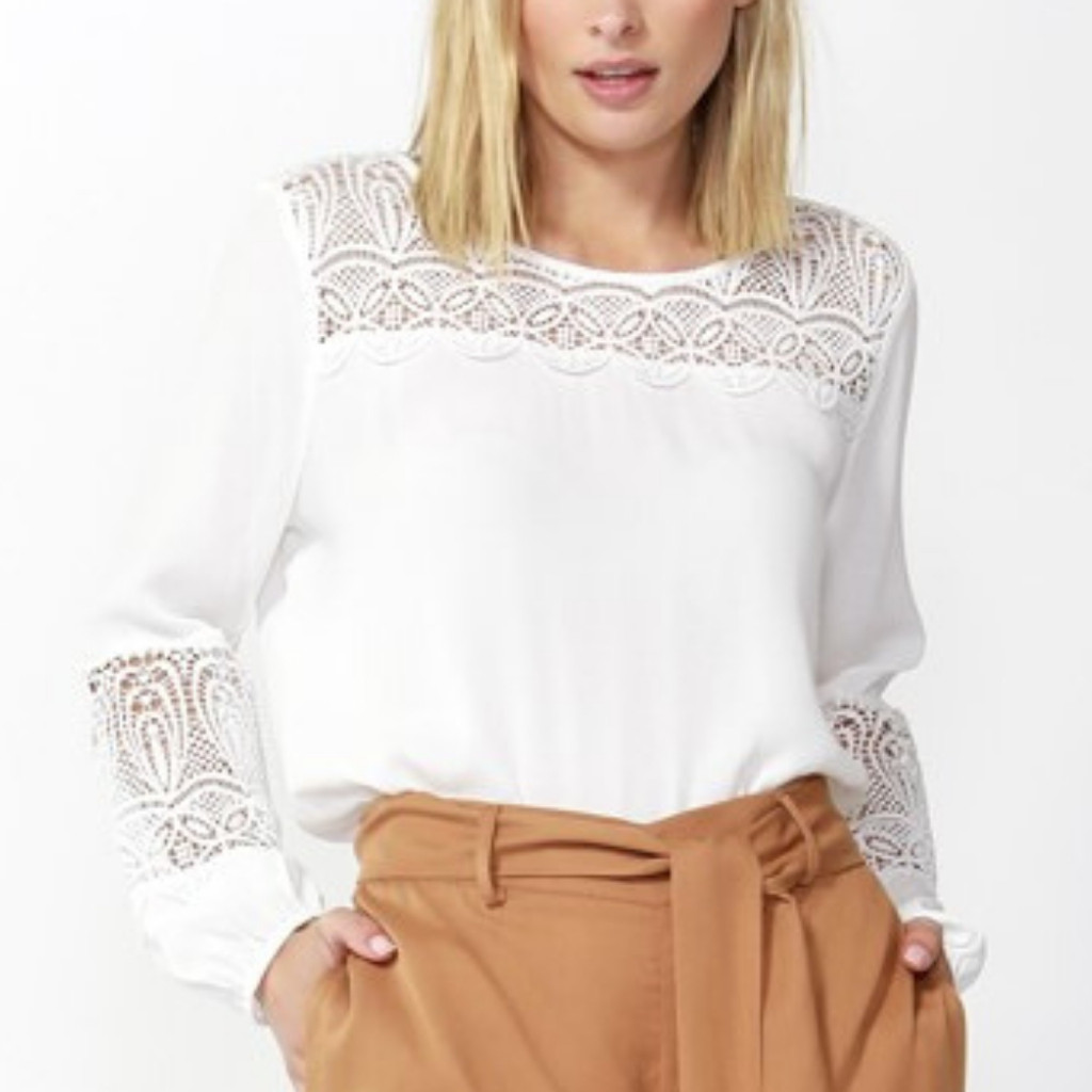 Women's Tops |  Aisling Lace Blouse | FATE + BECKER