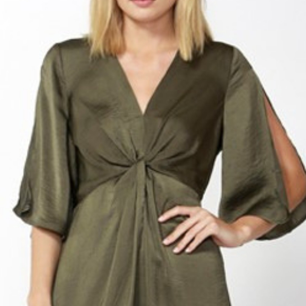 Women's Dresses | Star Struck Dress in Khaki | FATE + BECKER