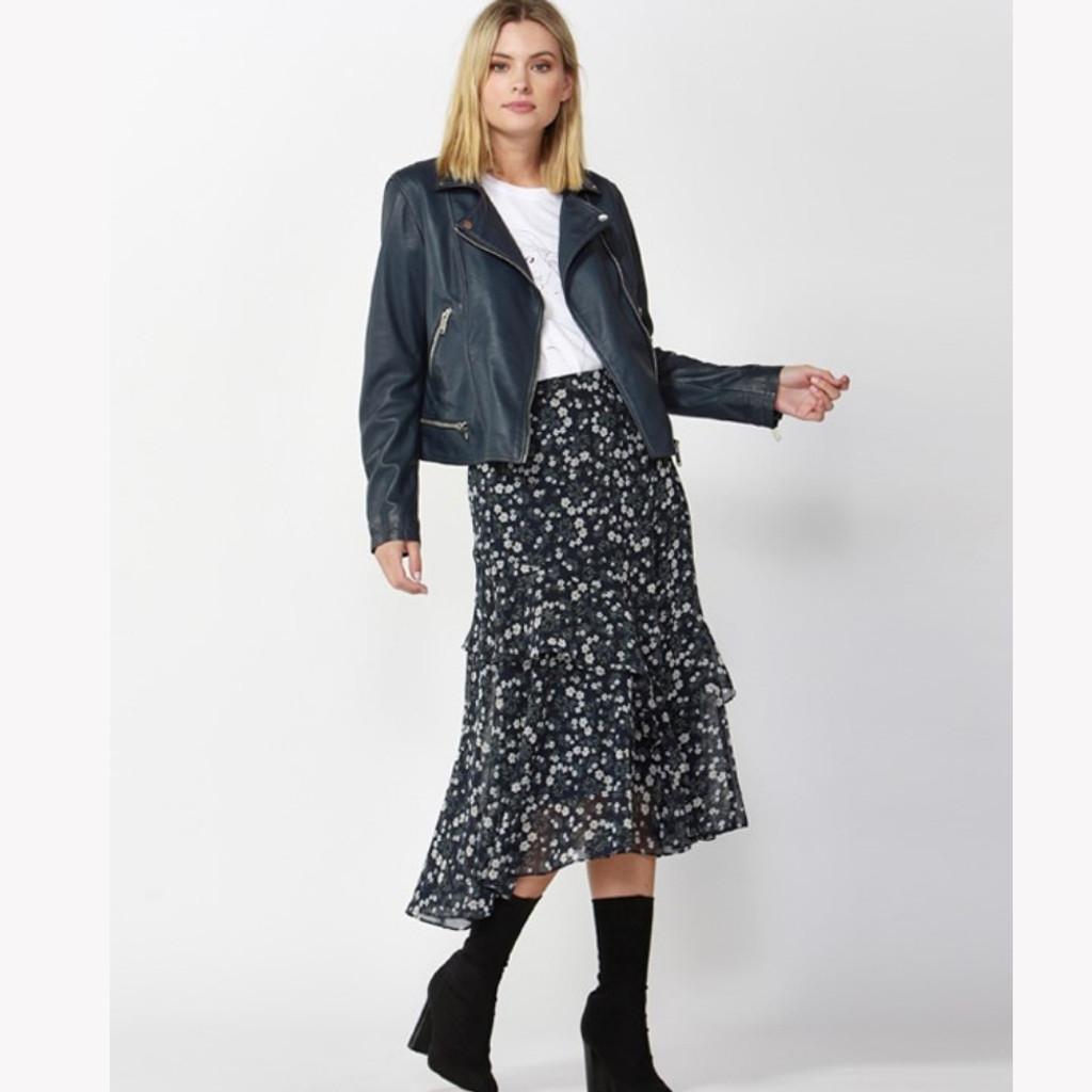 Jacket's for Women | Mercury Leather Jacket in Ocean Blue | FATE + BECKER