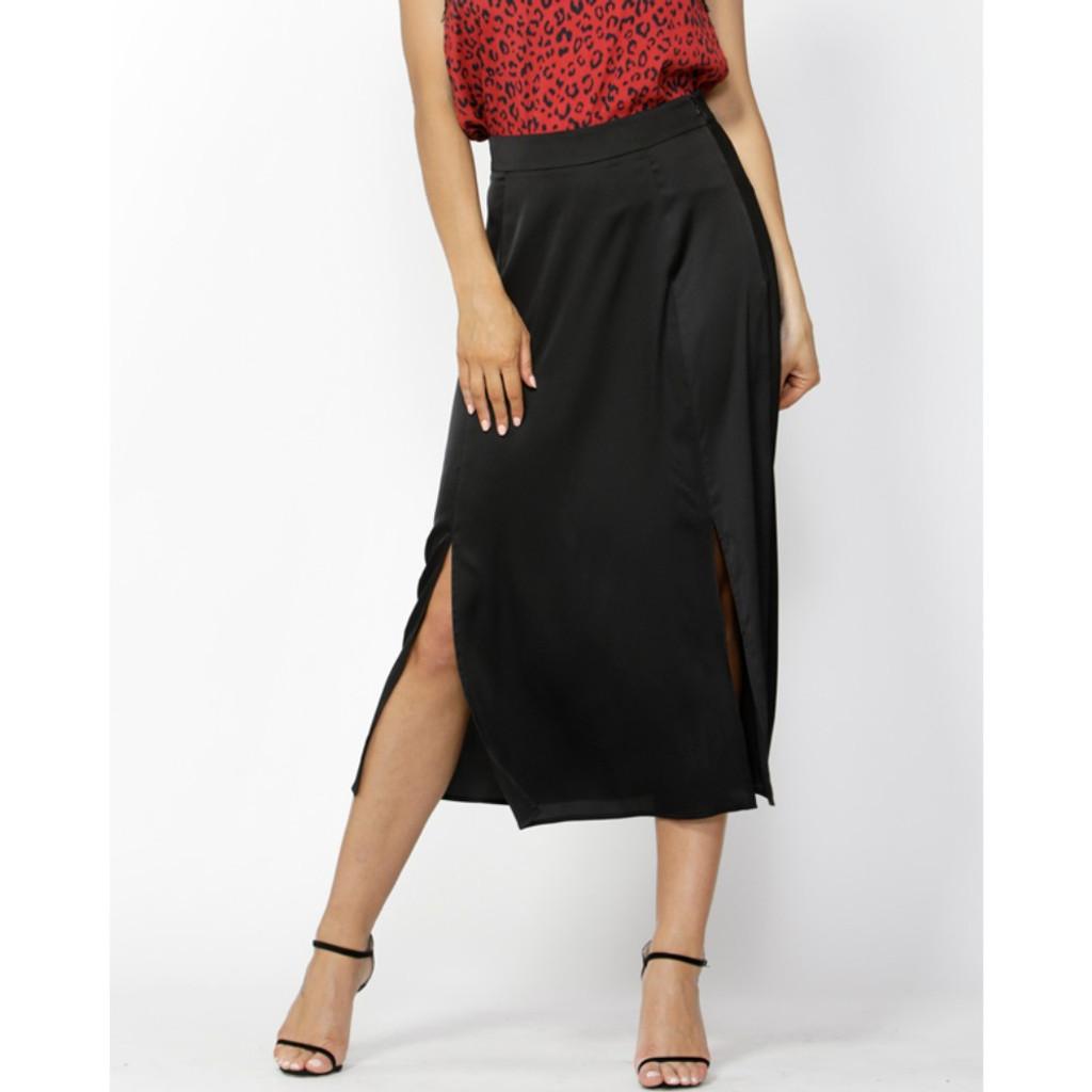 Women's Skirts| Push Black Slit Skirt | Fate & Becker