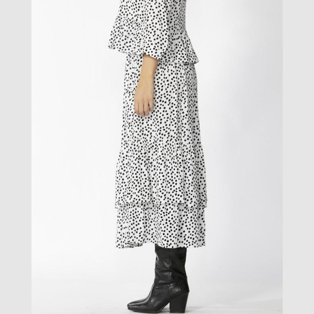 Women's Skirt | Thora Spot Frill Skirt | SASS