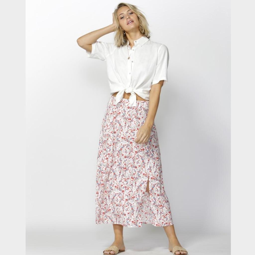 Women's Tops | Sunnie Days Linen Blend Shirt | FATE + BECKER