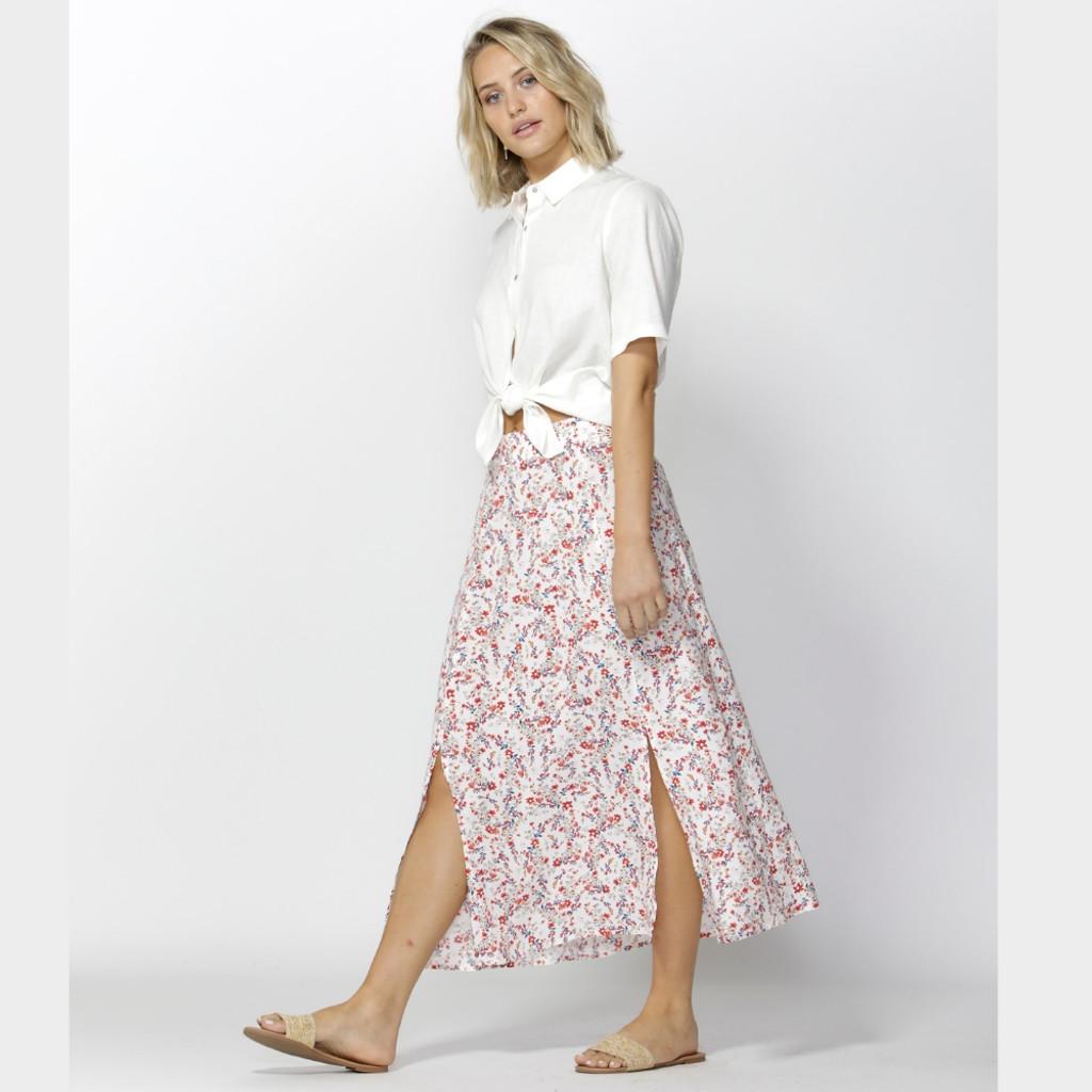 Women's Skirts Online   Take My Hand Slit Skirt   FATE + BECKER