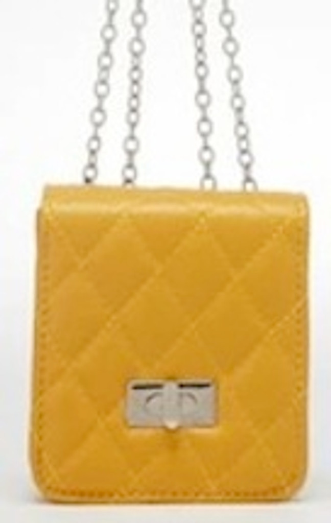 Cosmo December - Yellow Quilted Mini Satchel
