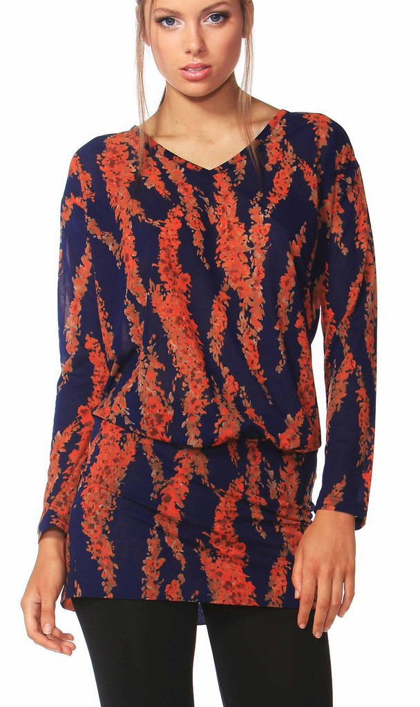 Women's Tops Online | Tuscan Blooms Tunic | FATE