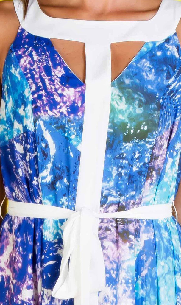 Ladies Dresses Online   Underwater Dreaming Cutout Maxi   Honey & Beau