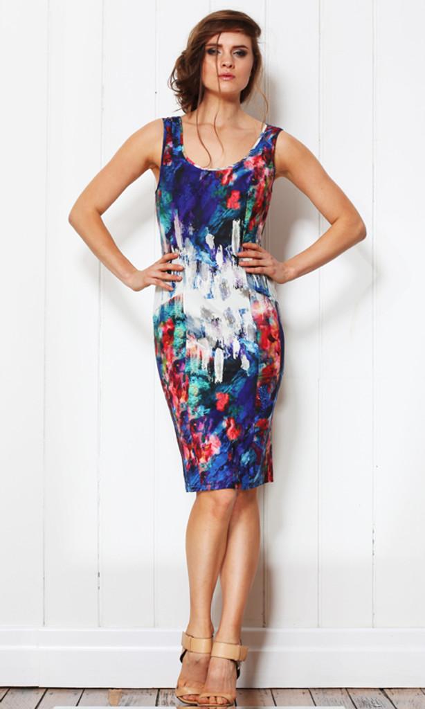 Ladies Dresses | Liquid Brush Dress | FATE