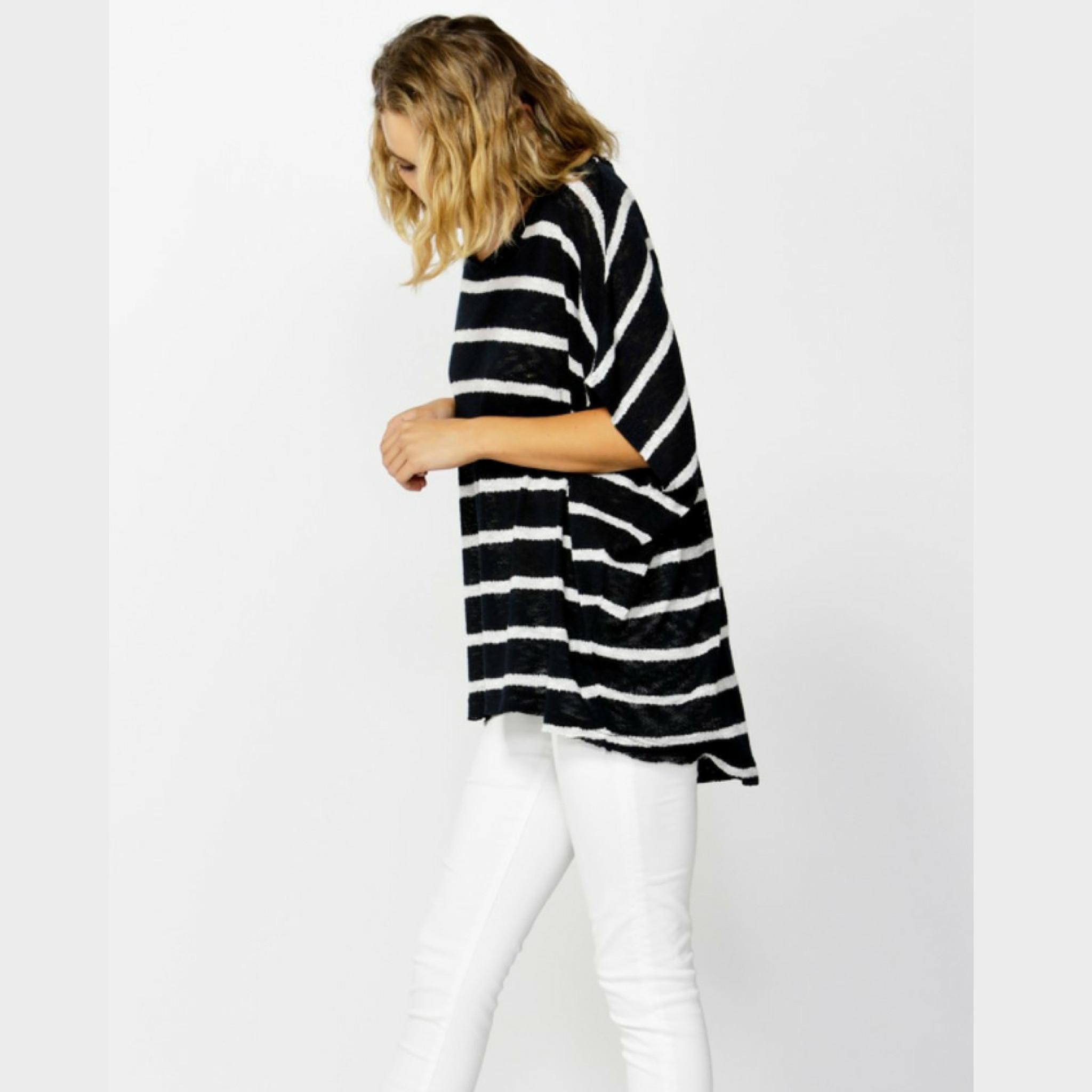 5bb156723 Grace Oversized Knit in Ink/White by BETTY BASICS*