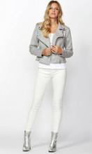 Lyra Suede Biker Jacket by SASS