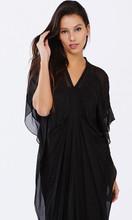 Women's Dresses | Diah Black Mumba Kaftan | PIZZUTO