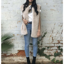 Ladies Jackets | KL406 Vest in Cream | KIIK LUXE