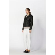 Women's Jackets Online | Harlem Biker Leather Jacket | FATE + BECKER