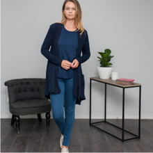 Women's Outwear Online | Malibu Cardigan in Navy | VIGORELLA