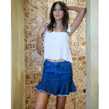 Women's Skirts Australia | Favourite Frill Hem Skirt | SASS