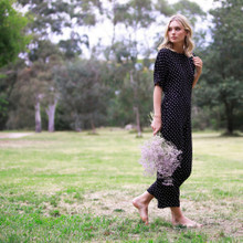 Women's Jumpsuits Australia | Paris Nights Jumpsuit in Black/White Dots | FATE + BECKER