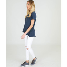 Women's Tops Online | Dalesford S/S Tee in Indigo | 3RD STORY