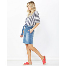 Women's Skirts Australia | Archer Stretch Denim Skirt | Betty Basics