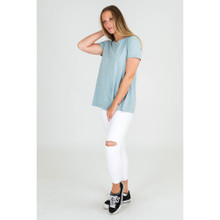 Women's Tees |  Finley S/S Tee in Mint | 3RD STORY