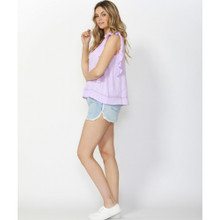 Women's Tops | Romance Reborn Lace Blouse in Lavender | SASS