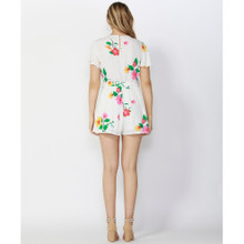 Women's Playsuits | Hibiscus Tie Front Playsuit | SASS