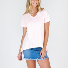 Women's Tops | Thornton Tee in Blush Marle | 3RD STORY