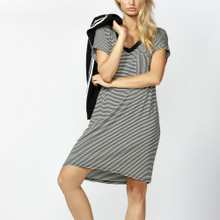 Women's Dress   Arizona Dress in Black/White Stripe   BETTY BASICS