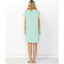 Women's Dress | Arizona Dress in Emerald/White Stripe | BETTY BASICS