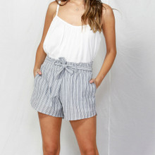 Women's Shorts | Venice Shirred Waist Shorts | FATE + BECKER