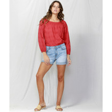 Women's Tops | Here It Comes Broderie Blouse | FATE + BECKER