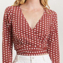 Women's Tops | Bonnie Spot Top | AMELIUS