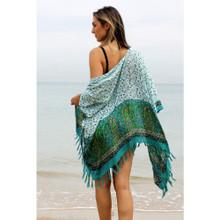Women's Jackets   Summer Classic Kimono in Tropicana Green   BIJOU