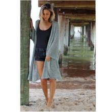Women's Jackets Australia | Eclipse Kimono in Icy Aqua | BIJOU