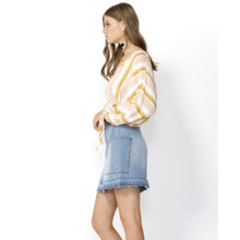 Women's Tops Online | Saffron Stripe Balloon Blouse | SASS